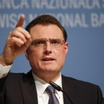 SNB Chairman Jordan speaks to media during a news conference in Bern