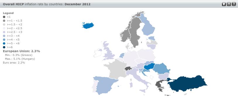 Eurostat Inflation Dashboard