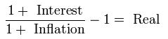 Fisher Equation Real Interest Rates