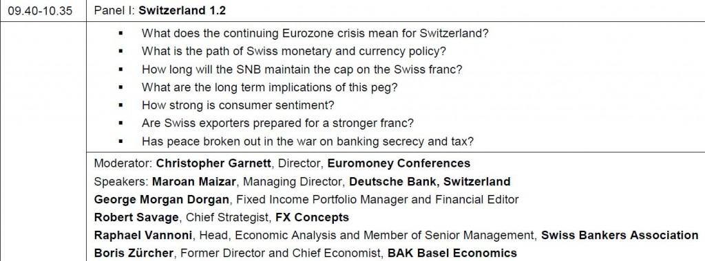 Euromoney Panel 1 Swiss Franc