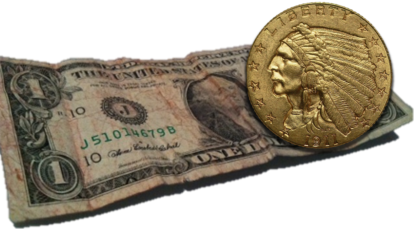 dollar and gold coin_composite
