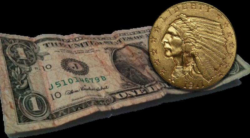 dollar gold coin