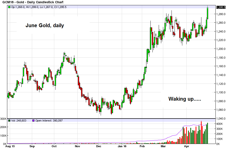 After a cyclical bear market from 2011 – 2015, gold is waking up
