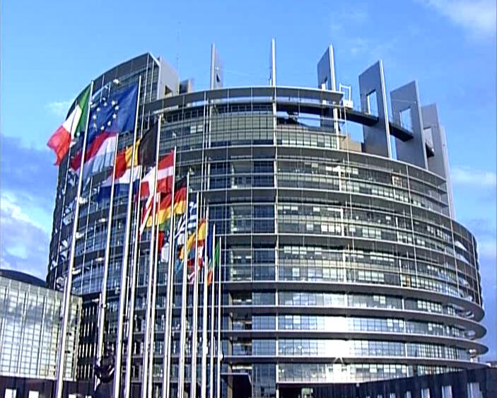 European parliament building – as a number of people have remarked, the structure is somewhat reminiscent of the Tower of Babel Photo via magnificat.sk