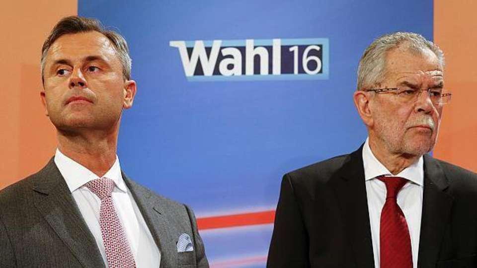 Austrian presidential candidates Norbert Hofer and Alexander van der Bellen Photo credit: Juerg Christandl / Kurier