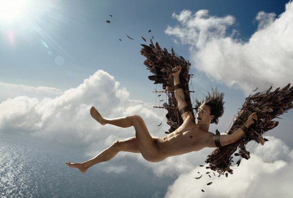 Icarus gets sunburned. His attitude evidently wasn't sufficiently positive… Image credit: Thomas Herbrich