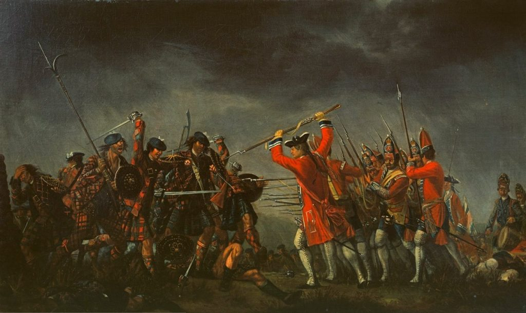 The Battle of Culloden – give Seamus McCeney his land back now! Painting by David Morier