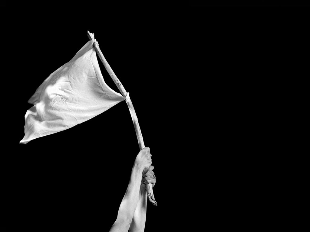 Time to wave the white flag? Perhaps. Photo credit: Michael Courtney