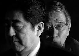 Shinzo Abe and Haruhiko Kuroda, professional yen assassins Photo credit: Toru Hanai / Reuters