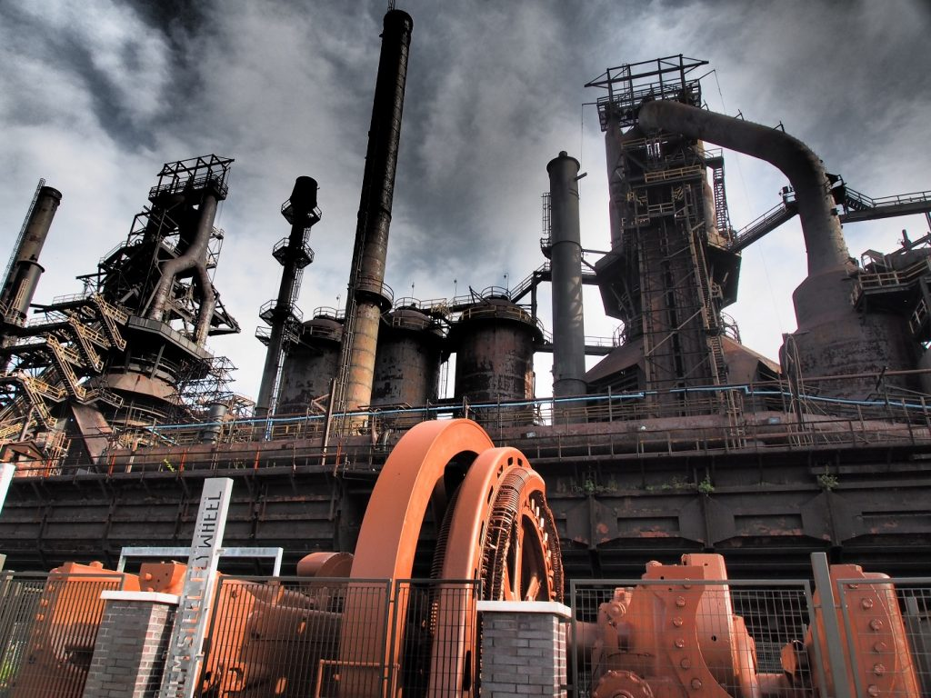 The original Bethlehem Steel Works in Bethlehem, Pennsylvania.