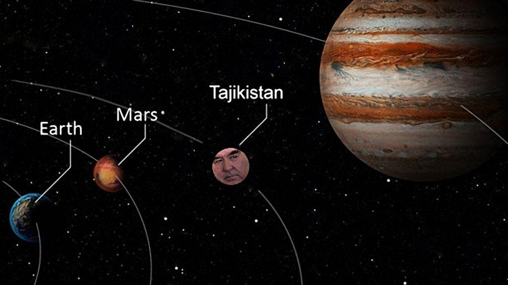 Earth, Mars, Tajikistan, Jupiter… Illustration via boingboing.net