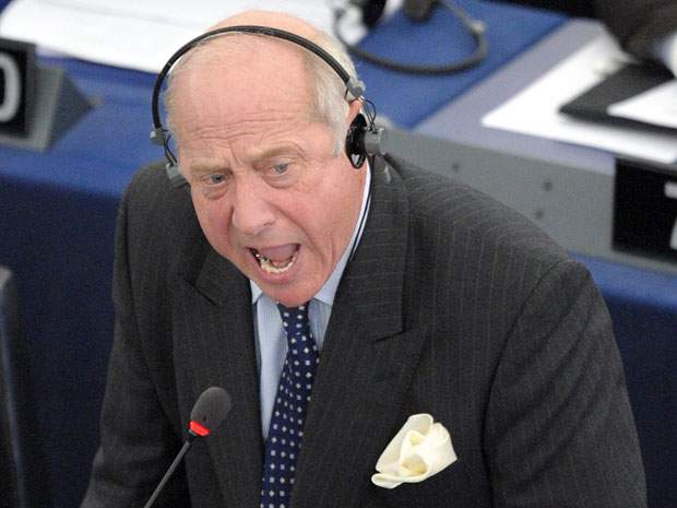 Godfrey Bloom: Giving them hell in Strasbourg Photo credit: Democracy Live