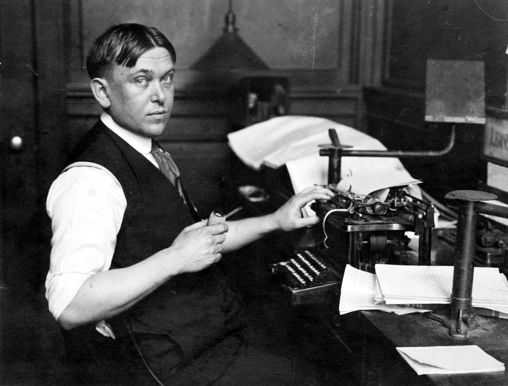H.L. Mencken bequeathed us incisive analyses of both government and the people voting for them. He had much contempt for both, and rightly so. Photo via prattlibrary.org