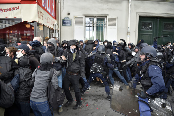 Protesters and police battling in Paris Photo credit: Alain Jocard / AFP / Getty Images