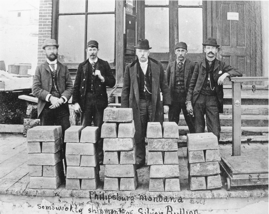 Philipsburg, Montana, 1890: evidently, these gentlemen did not suffer from a silver shortage. Photo via mininghistoryassociation.org