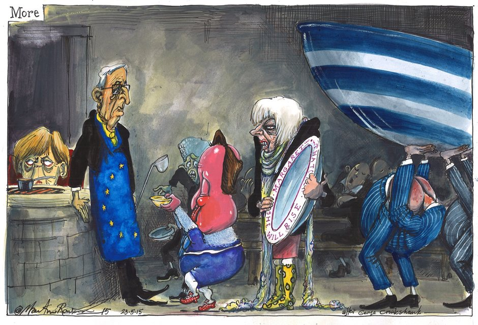 Last summit? David Cameron at the EU Cartoon by Martin Rowson
