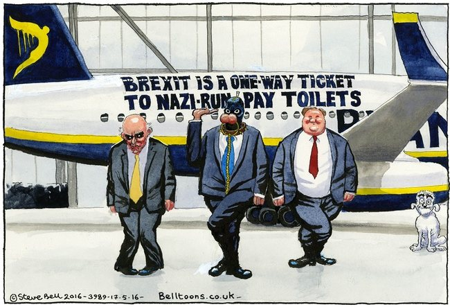"For the scrap book: the last-ditch effort of the ""Fear Campaign"" – sorry boys, fail. Cartoon by Steve Bell"