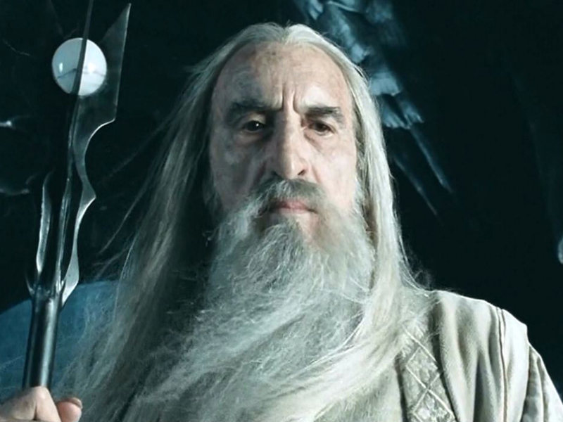 Silver gets the Saruman question…(see further below) Photo credit: New Line Cinema