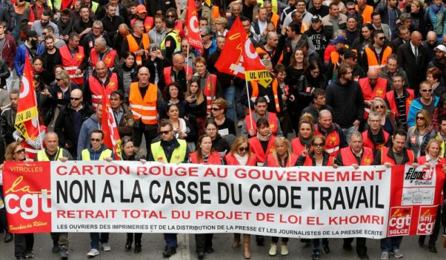 """Francois Hollande's former supporters are now his biggest detractors. He has dared to attack a sacred cow – the """"code du travail"""". France's labor costs are among the highest in the world. Photo credit: Jean-Paul Pelissier / Reuters"""