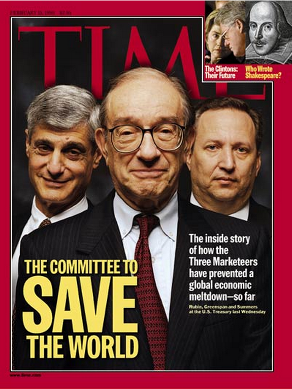 "The committee, that in hindsight, actually screwed the world (here's a little hint for TIME, for next time: ""committees"" have never saved anything). A bunch of quintessential Deep State minions…"