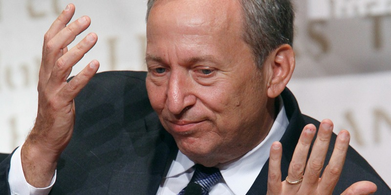 High IQ moron alert: Larry Summers, the man with a plan for everything and everyone. In case you don't know him, he has solved problems all around the world from afar… for instance, it took him just one editorial in the FT to completely fix China. Photo credit: Reuters