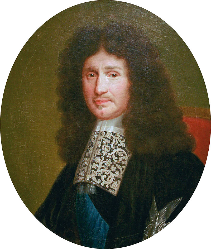 17th century chief mercantilist Jean-Baptiste Colbert – beloved by politically well-connected cronies all over France. Painting made after an engraving by Robert Nateuil