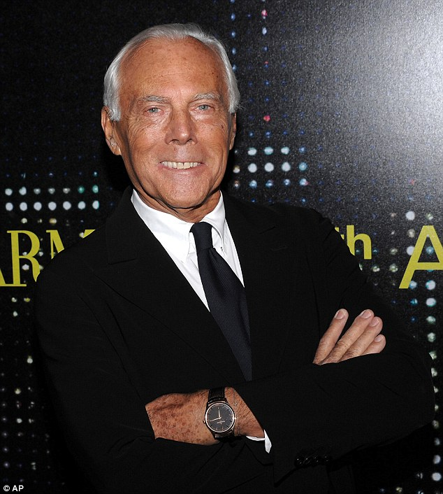 Giorgio Armani is clearly in a much better mood than Bernie Sanders, and for good reason!