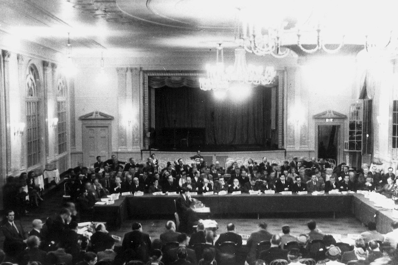 Bretton Woods monetary conference at the Mt. Washington Hotel in July 1944 Photo via beforeitsnews.com