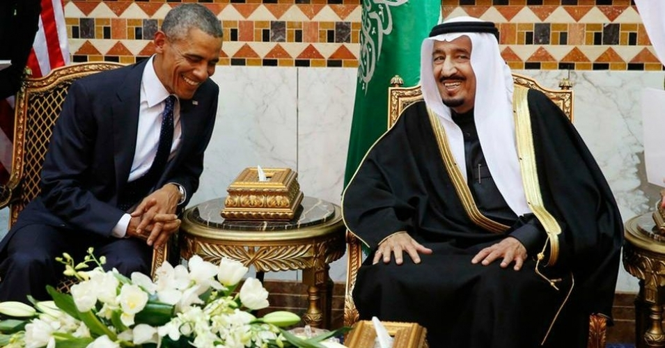 President Obama and Saudi Arabia's new King Salman find something to laugh about. In reality, relations between the US and Saudi Arabia have steadily deteriorated in recent years, official proclamations to the contrary notwithstanding. Photo credit:Jim Bourg / Reuters