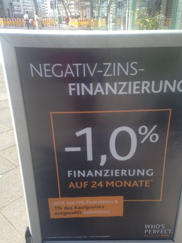 Negativ-zins-finanzierung