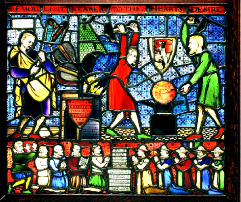 Glass Window of the Fabian Society.