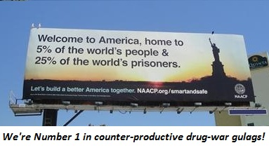 We're Number 1 in counter-productive drug-war gulags!