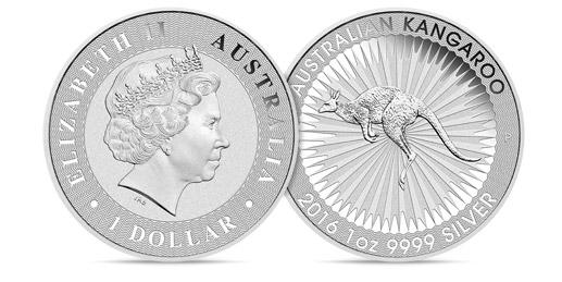 Silver Kangaroo Coins 1 oz (2016)