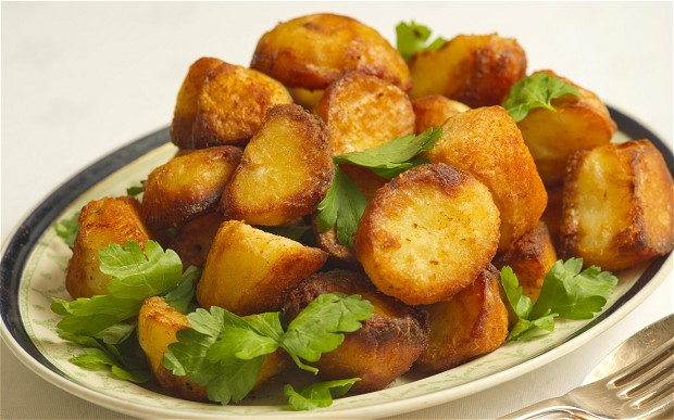 And not long after the above described exchange, the potatoes looked like this