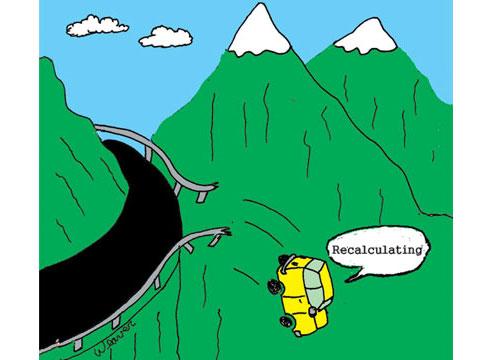 A malfunctioning GPS