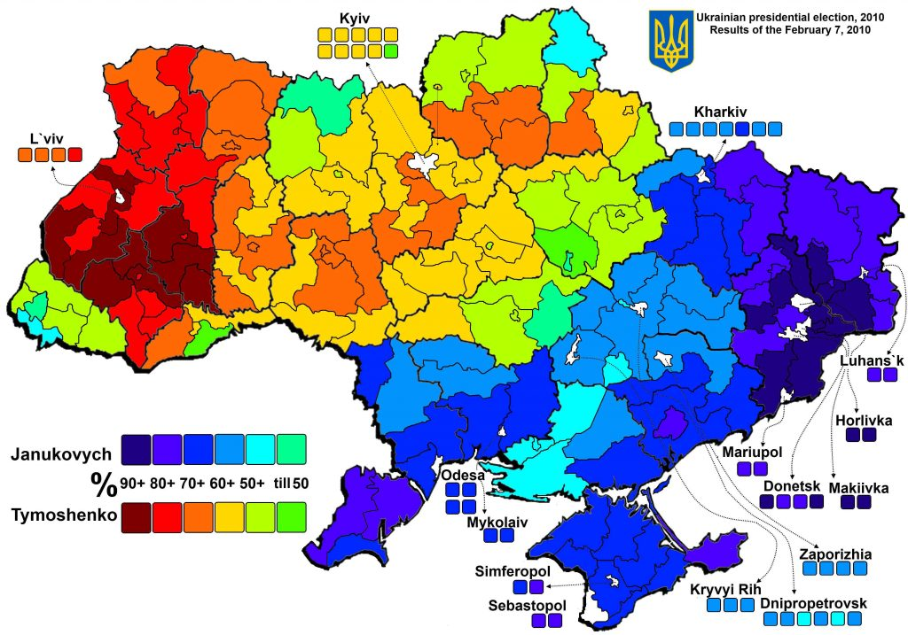 Ukrainian presidential election 2010, Janukovych, Tymoshenko