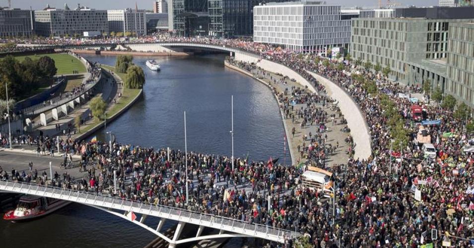 A recent demonstration against TTIP in Berlin