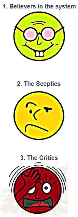Optimist, Sceptics, Critics
