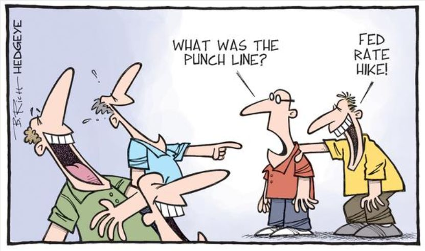 What was the punch line? Fed Rate hike!
