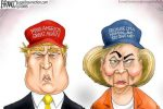 Branco Trump and Hillary