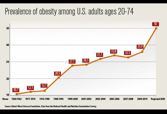 Obesity Among US Adults Ages 20-74
