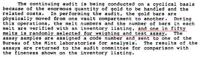 "US Mint Releases New Fort Knox ""Audit Documentation"". The First Critical Observations."