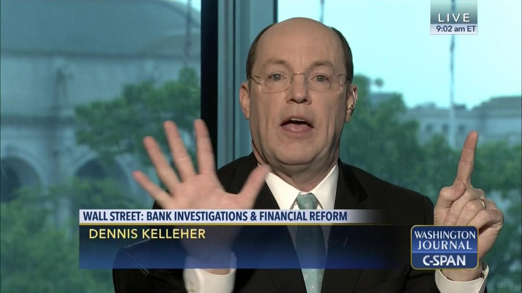 "Dennis Kelleher, who used to be a firefighter in the US air force, is CEO of ""Better Markets"" these days (the pay is presumably better). While we haven't followed the activities of this ""think tank"", it is a good bet that when someone is advocating for ""better"" markets, he doesn't actually mean free markets. Screenshot via C-Span"