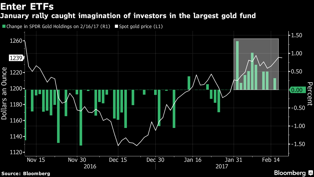 January rally caught imagination of investors largest gold fund