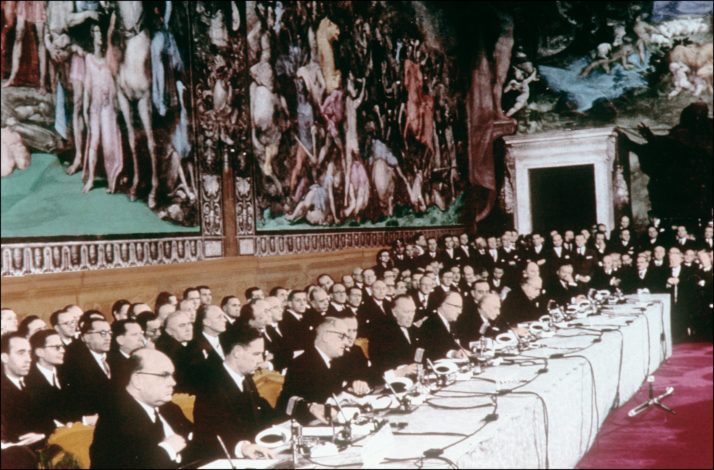 Treaty of Rome on March 25