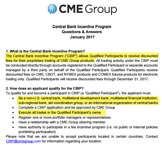 Central Bank Incentive Program, January 2017