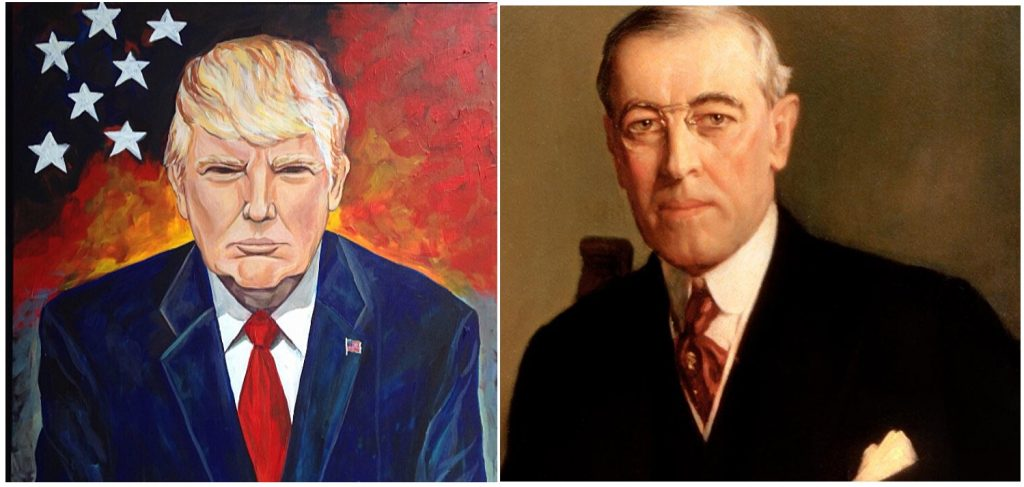Donald Trump and Woodrow Wilson