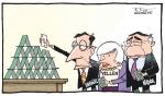 Card house cartoon