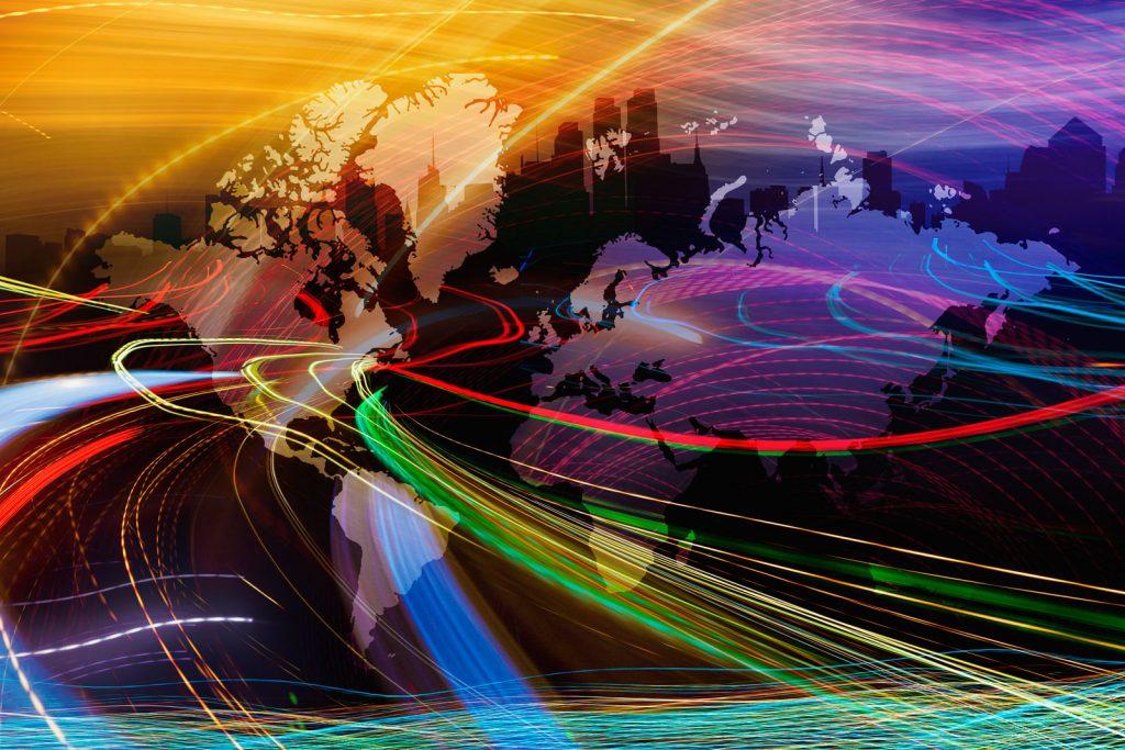 Network Globe Data Flow