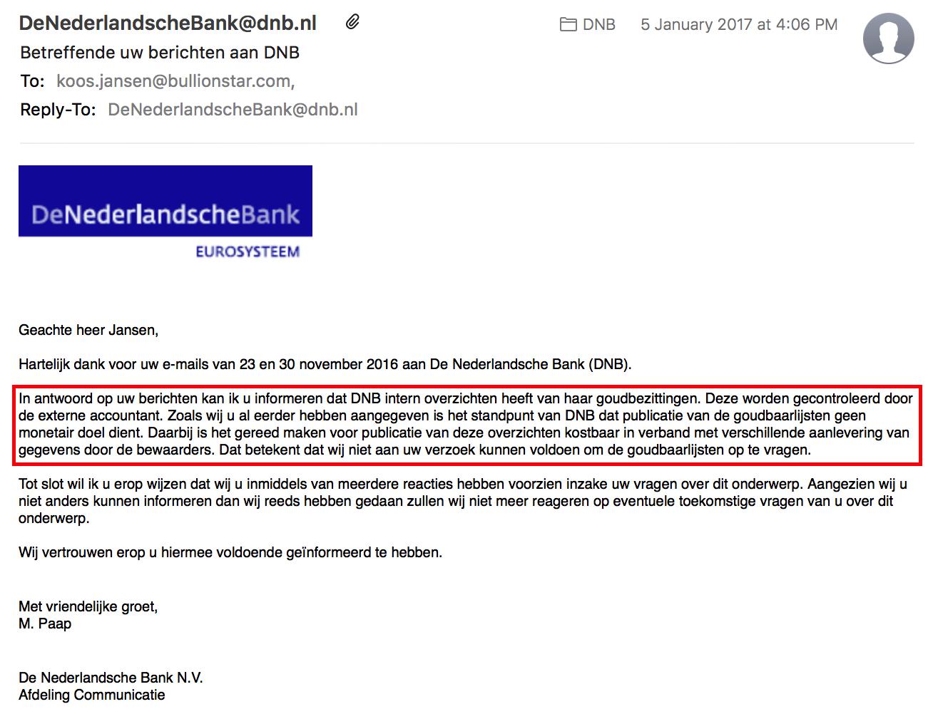 Netherlands Bank